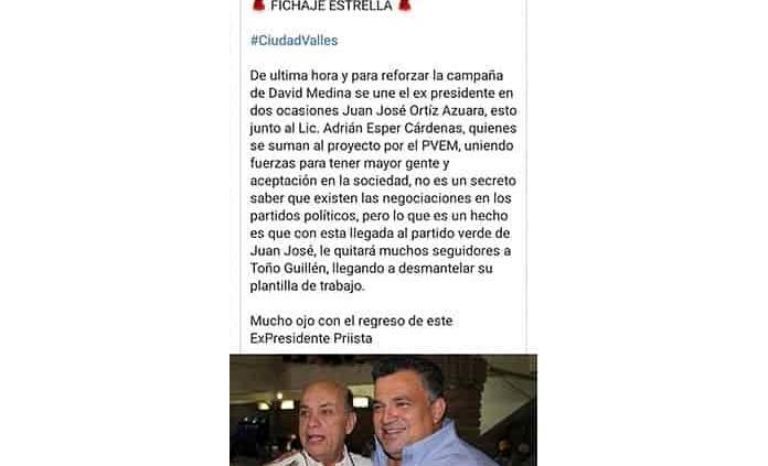 Se deslinda J.J. Ortiz de David Medina