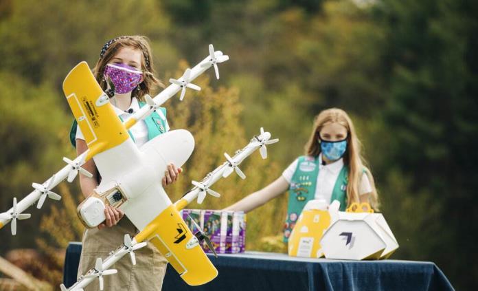 Filial de Google entrega galletas de Girl Scouts con drones