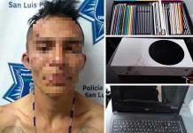 Detienen a un sujeto tras robo en un negocio de avenida Constitución
