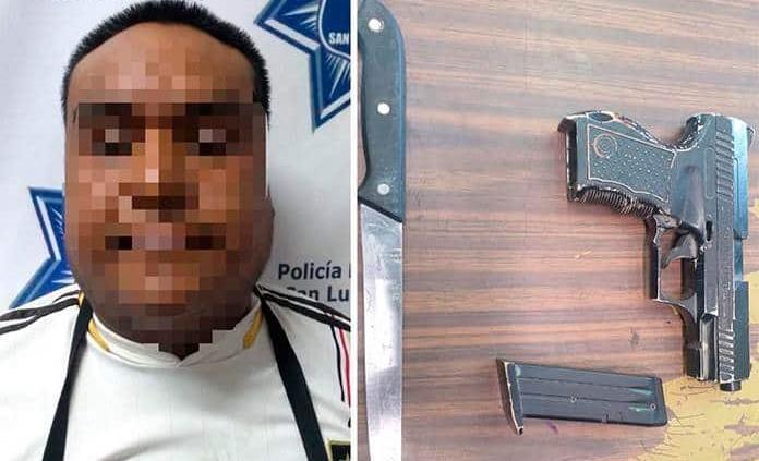 Detienen a sujeto por amenazas y portación de arma de juguete en mercado sobre ruedas de Las Flores