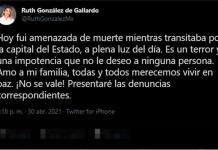 Denuncia esposa de Gallardo que fue amenazada a mano armada