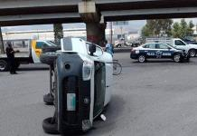 Patrulla municipal participa en un accidente vial