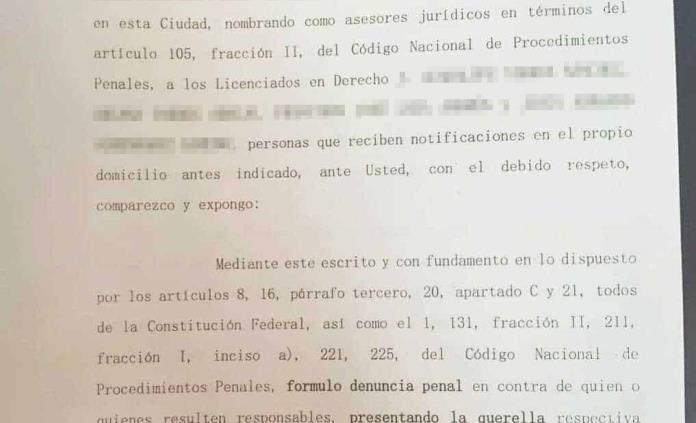 Esposa de Gallardo presenta denuncia por presunta amenaza; solo informa que fue en el poniente de la capital