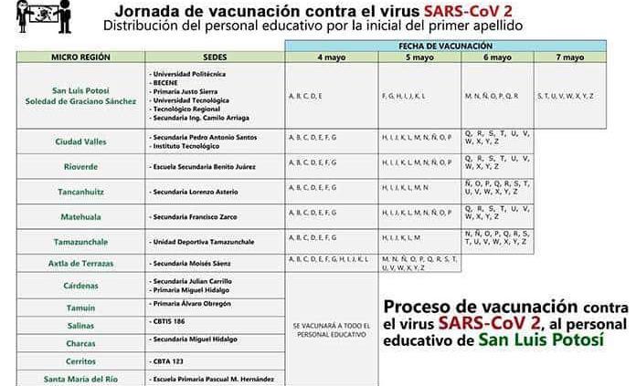 Inicia mañana la vacunación para maestros