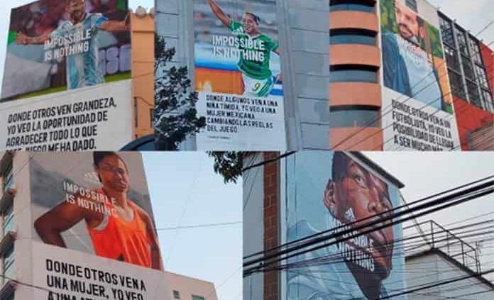 Crean murales de Messi, Pogba, Charlyn Corral y otros atletas en la CDMX