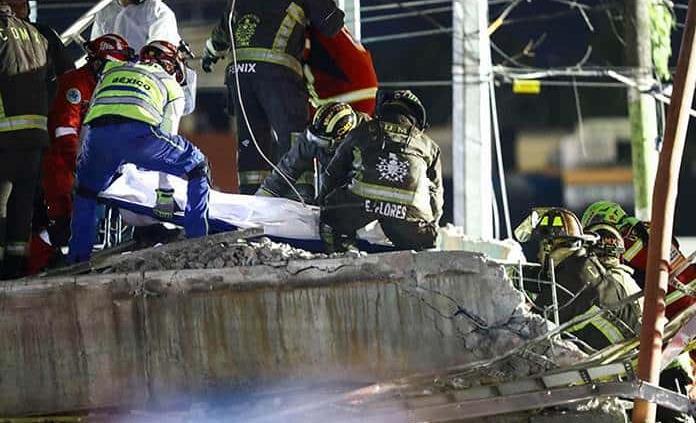 Suman 24 fallecidos por accidente en Metro; 21 en el lugar y tres en el hospital