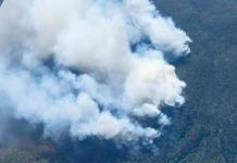 Continúa el combate de 7 incendios en el estado