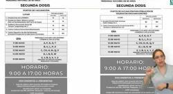 A partir del martes 11, aplicación de segundas dosis en la capital y Soledad