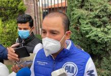 No permitan tener un narcoestado, es lo peor que puede ocurrir, exhorta Marko Cortés durante su visita a SLP