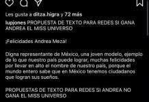 Lupita Jones habla sobre error al felicitar a Andrea Meza