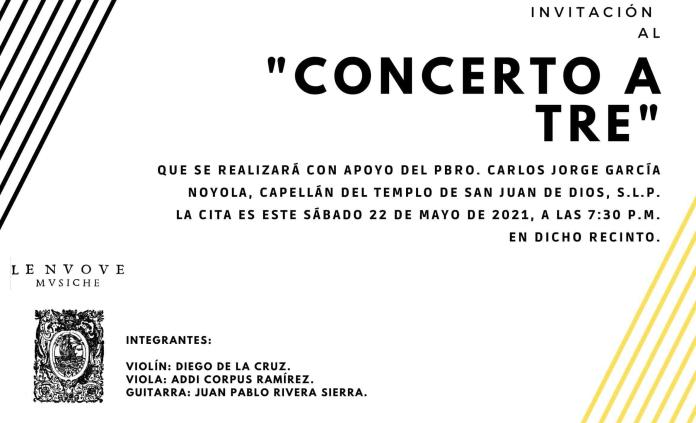 """Trío """"Le nuove musiche"""" ofrecerá recital de estreno en SLP"""