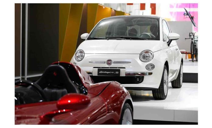Fiat 500, pieza de museo  en Milán