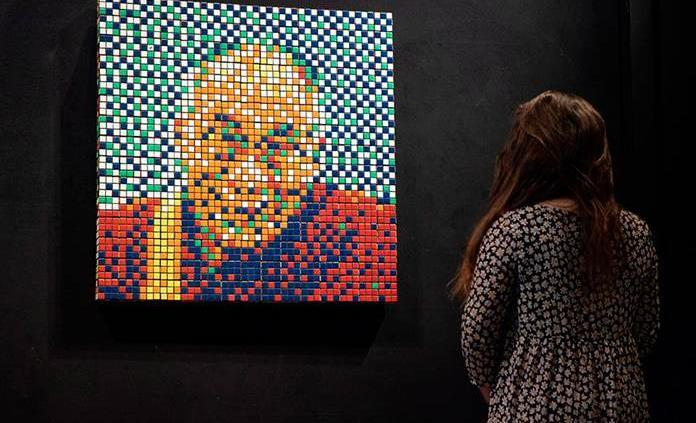 Subastarán en París el Rubik Dalái Lama de Invader