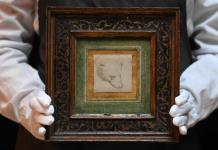 El boceto Cabeza de Oso de Da Vinci se expone en Londres antes de subastar