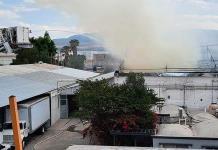 Causa alarma  un incendio en empresa de la Zona Industrial