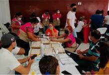 Largas sesiones de cómputo por cientos de errores en las actas en Ciudad Valles