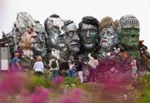 Erigen en Cornualles una estatua de residuos electrónicos de cara al G7