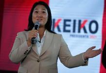 Keiko Fujimori considera absurda la solicitud para que regrese a prisión