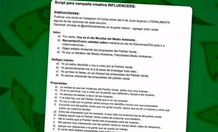VIDEO: Este fue el guion que recibieron los famosos para hablar bien del Partido Verde