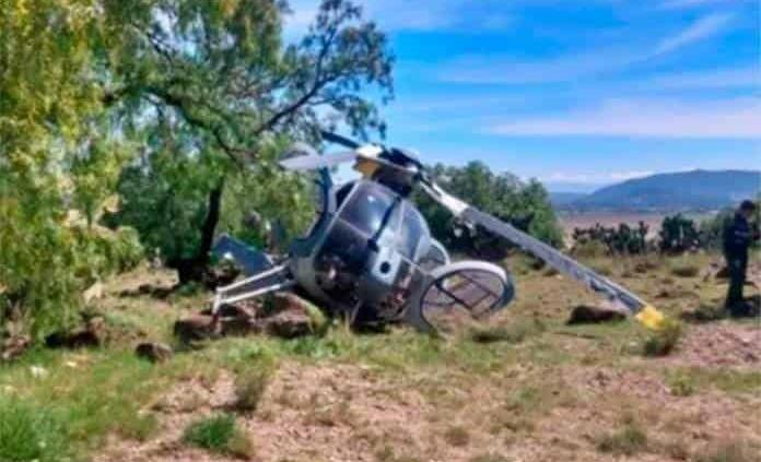 Se desploma helicóptero en los límites de Hidalgo y Edomex