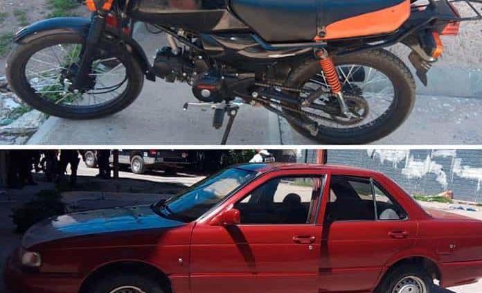 Abandonan una moto y un automóvil robados