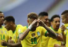 Brasil golea a Venezuela, al abrirse por fin la Copa América