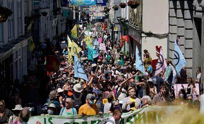 Protestan contra cambio climático