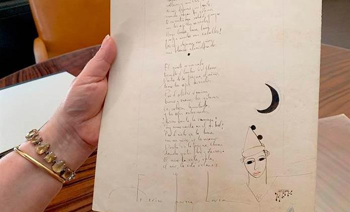 Venden en París por casi 48,000 euros un manuscrito del poeta García Lorca