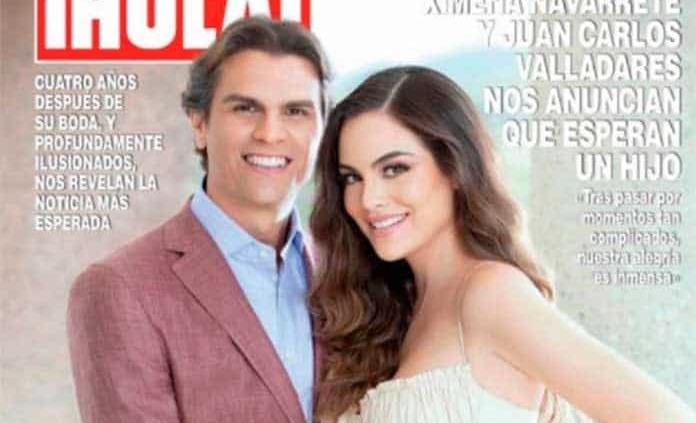 Ximena Navarrete y Juan Carlos Valladares serán papás