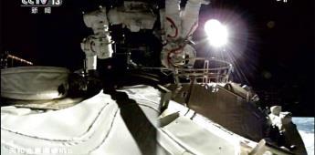 Los 3 ocupantes de la estación espacial china emprenden el regreso a Tierra