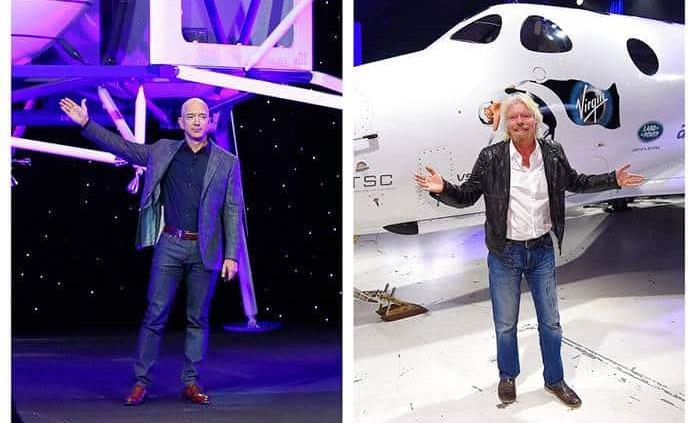 Bezos dice que el vuelo de Branson no tiene altitud suficiente para ser espacial