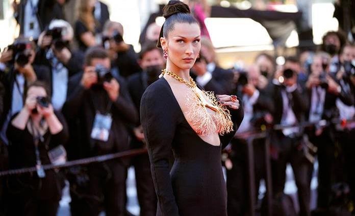 Bella Hadid, sobresaliente en Cannes con un vestido joya