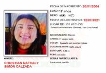 Piden apoyo para localizar a una joven de Soledad