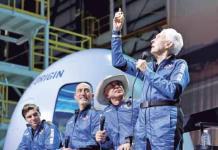 Vuela Bezos en su cohete