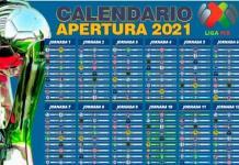 Calendario Apertura 2021