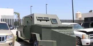 Aseguran vehículos modificados con blindaje artesanal en Tamaulipas