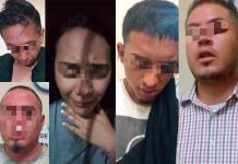 Vándalos son arrestados tras larga persecución