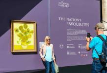 El arte de la National Gallery luce al aire libre en el centro de Londres