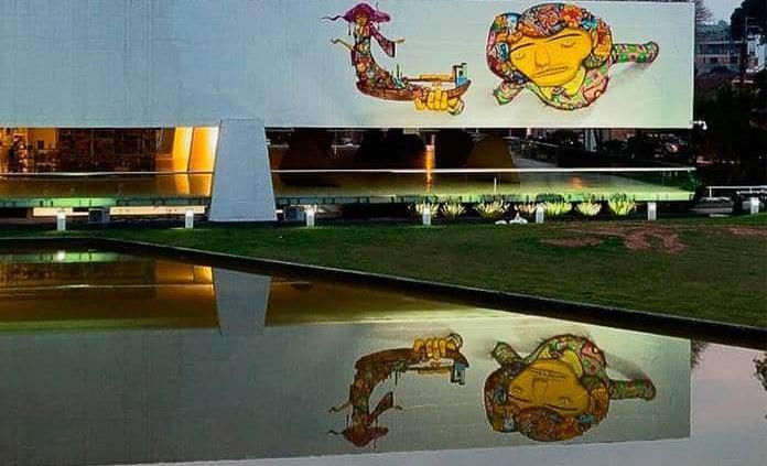 Critica un grafiti de OsGemeos hecho sobre edificio del arquitecto Óscar Niemeyer
