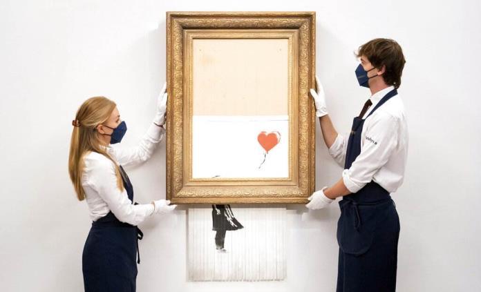 Banksy medio triturado a subasta por más de 5 millones de dólares