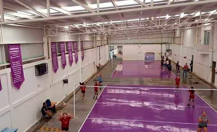 Inauguran cancha de voleibol