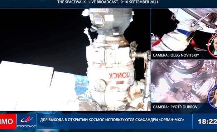 Los cosmonautas efectúan su segunda caminata espacial en menos de una semana