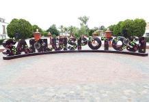 Inauguran letras monumentales en Plaza de Ciudades Hermanas