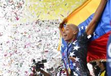 Recibimiento apoteósico a Yulimar Rojas en Venezuela