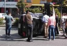 Vuelca automóvil en Carranza y Uresti