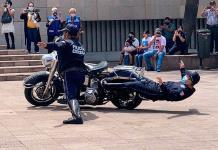 Policías practican a toda máquina, previo a desfile de la Independencia (VIDEO Y FOTOS)