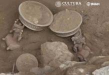 Hallan ofrenda prehispánica en Zona Arqueológica de Xochitécatl