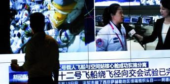Astronautas parten de estación espacial china tras 90 días
