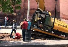 "Percance en la obra del Colector Pluvial ""Saucito"""