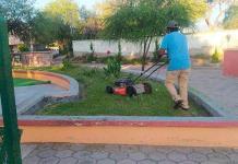 Continúa limpieza de parques y plazas